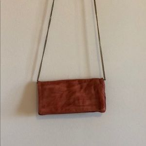 BDG wallet chain purse pink leather